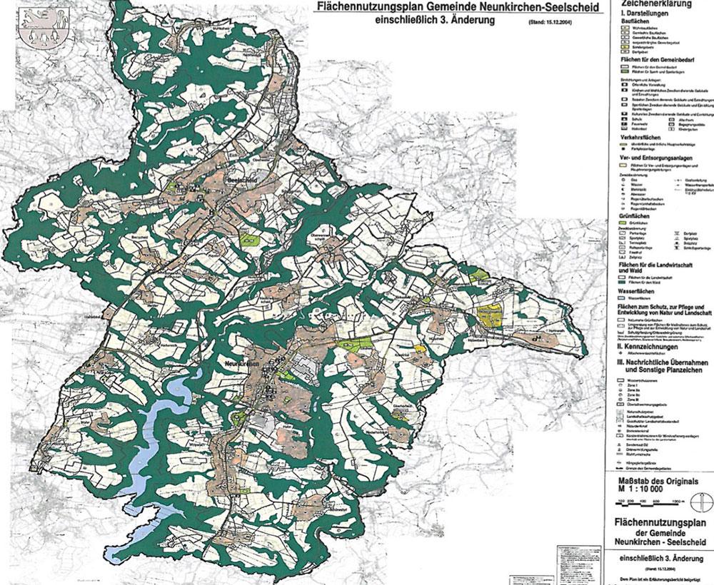 The preparatory land-use plan for the rural Neuenkirchen-Seelscheid district