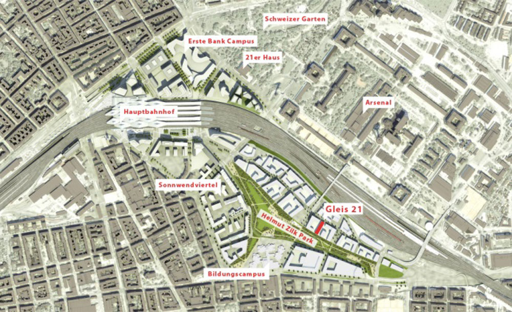 Masterplan for the Sonnwendviertel area