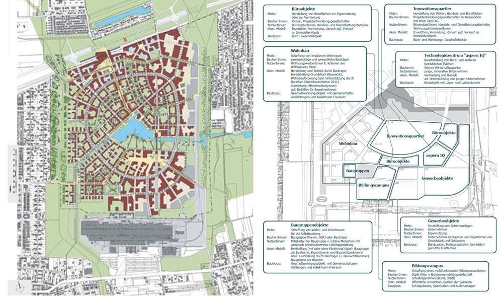 Masterplans for the Asern Seestadt area