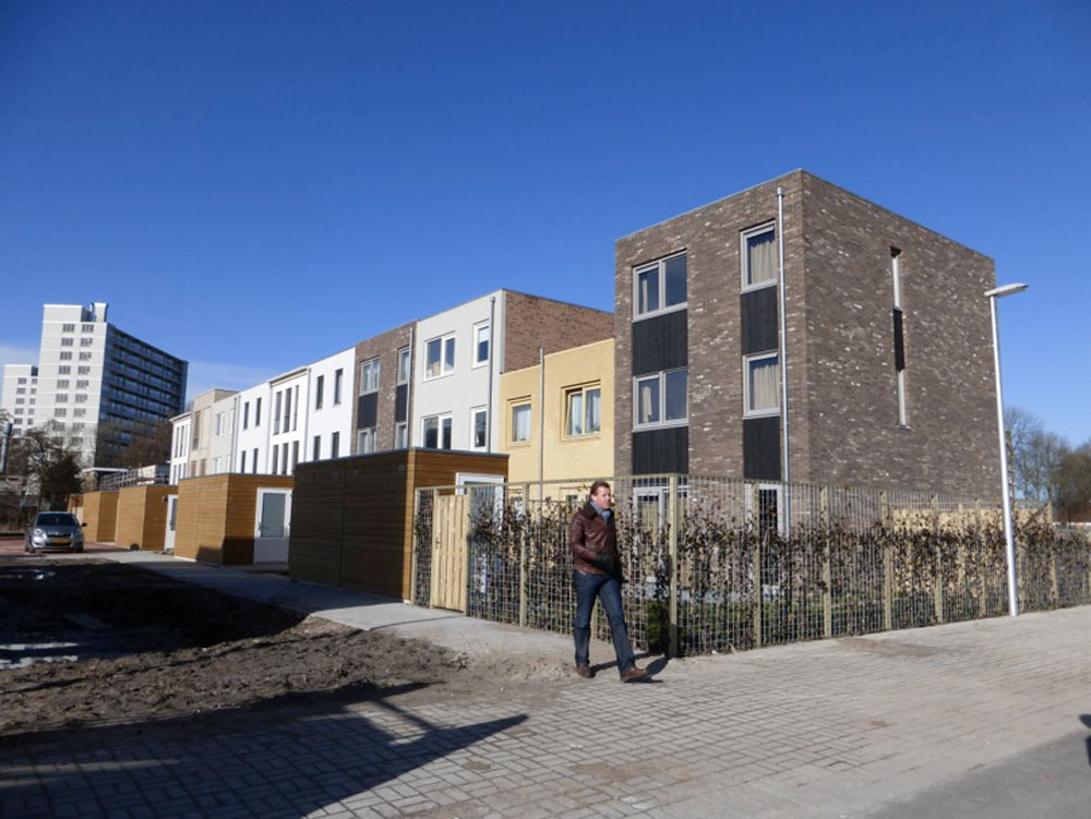February 2015, the first homes had just been completed