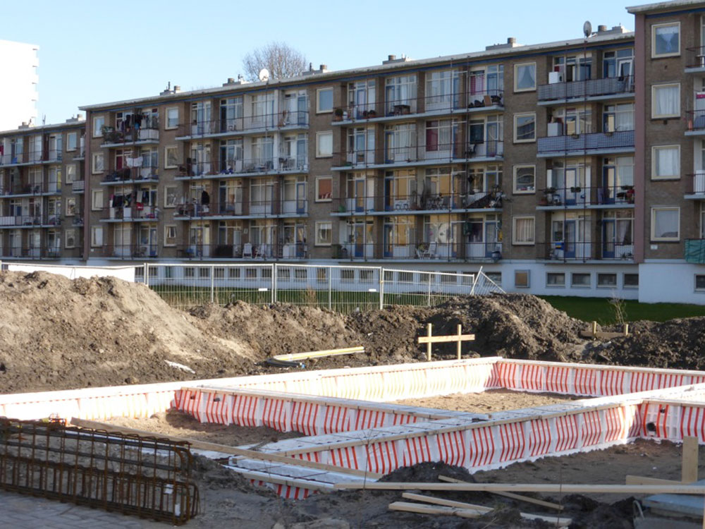 The site for the Isabellaland development is an infill parcel within an existing 4-5 storey residential area