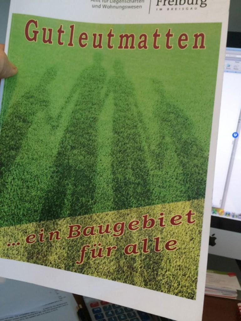 The bidding document for Gutleutmatten