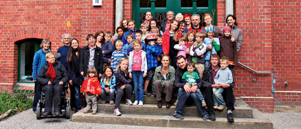 The members and residents of Baugemeinschaft Stattschule