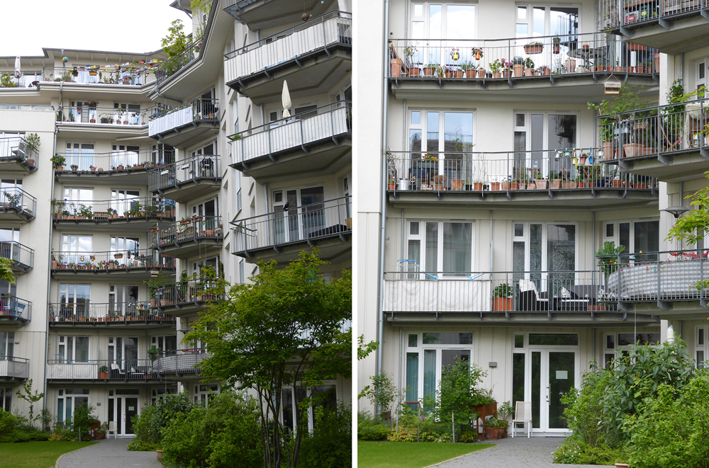 Every apartment has a large balcony