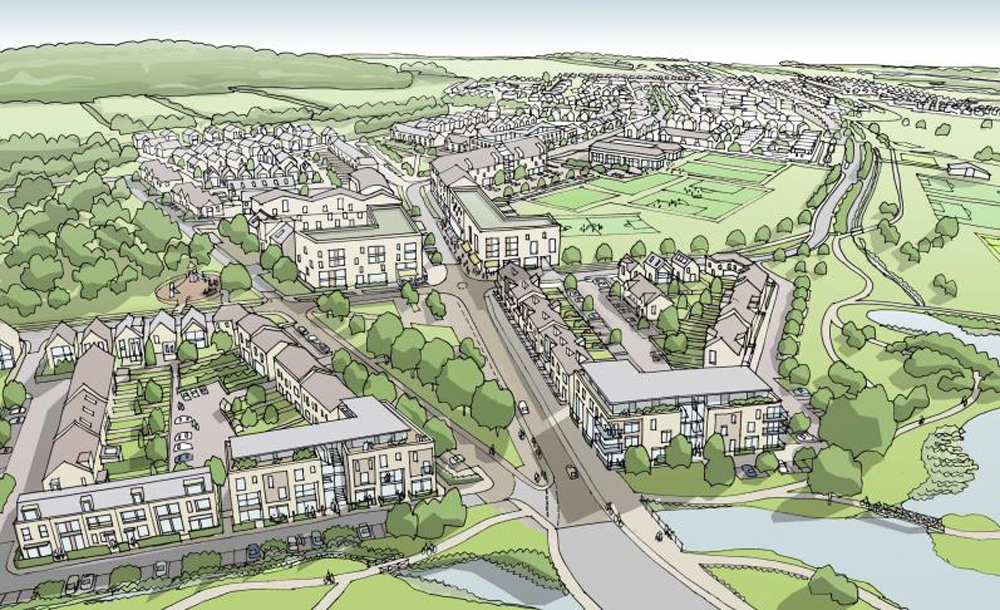 Up to 1,900 new homes are planned as part of the Graven Hill development. New schools, offices, retail and other commercial uses will also be included