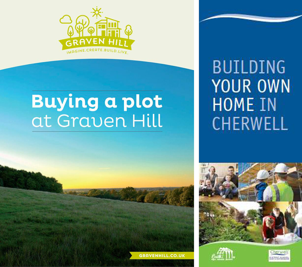 (left) The development company has prepared a guide for prospective purchasers that explains the sales process; and (right) one of the council's earlier leaflets, prepared to promote its Build! Initiative