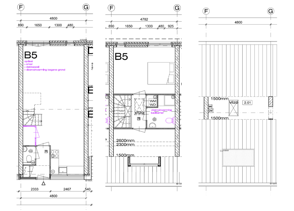 Plans of a typical two-storey home with loft space